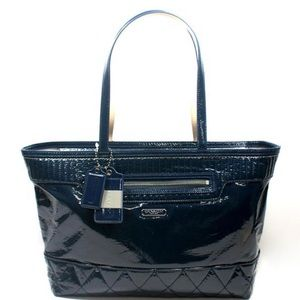 Coach Poppy Large Navy Tote
